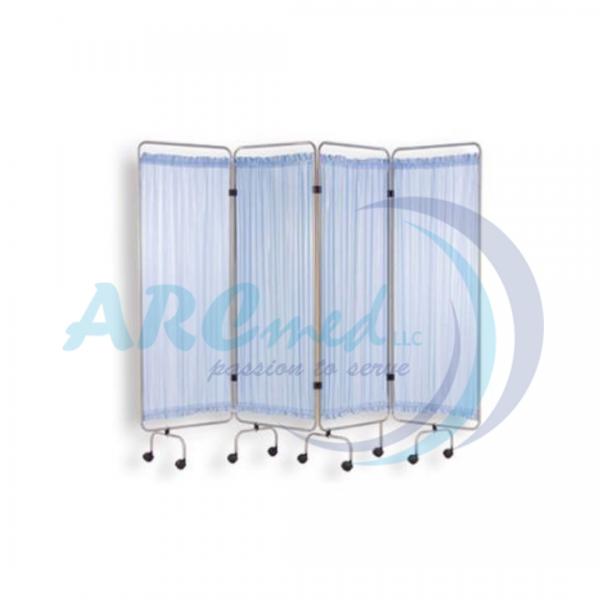 4-Fold ward Stainless Steel Screen - Hospital Furn...