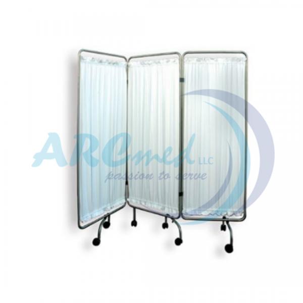 3-Fold ward Stainless Steel Screen - Hospital Furn...