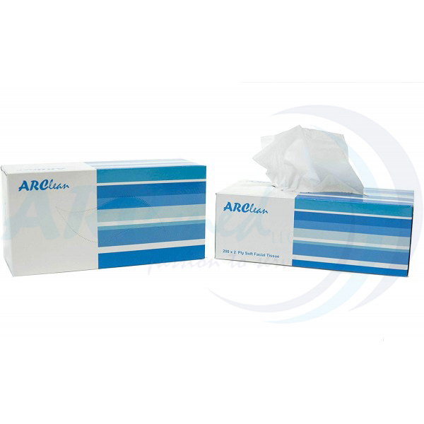 ARClean Facial Tissue 200x2Ply Pack of 10