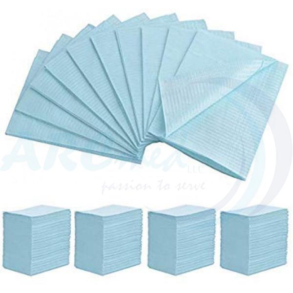 HYGIEIA Dental Bibs Blue 45X33 - 500's