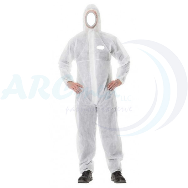 Disposable Coverall w/ Hood & Elastic wrist PP-Non Woven 50gsm - Medium