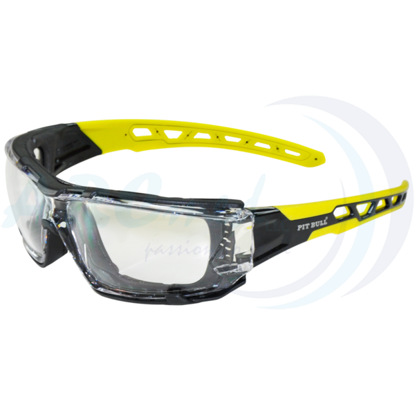 Goggles FS-1924 Clear with Yellow TPR Legs & G...