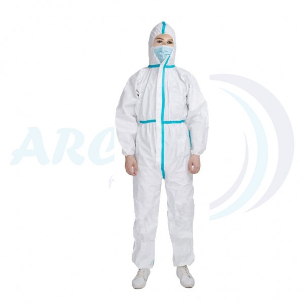 Disposable Isolation Coverall Non - Woven + PE for...