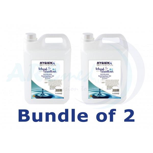 HygienX Hand Sanitizer Gel 5L Bundle of 2