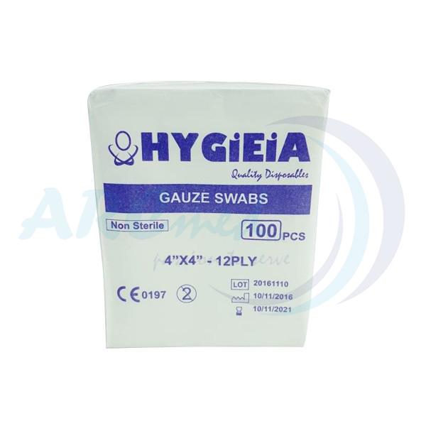 HYGIEIA Gauze Swabs 12ply 4x4