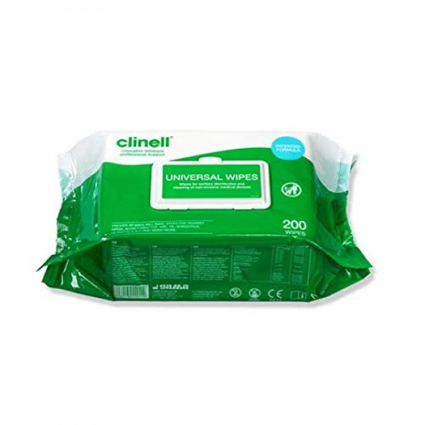 Clinell Universal Wipes (200 wipes per pack)