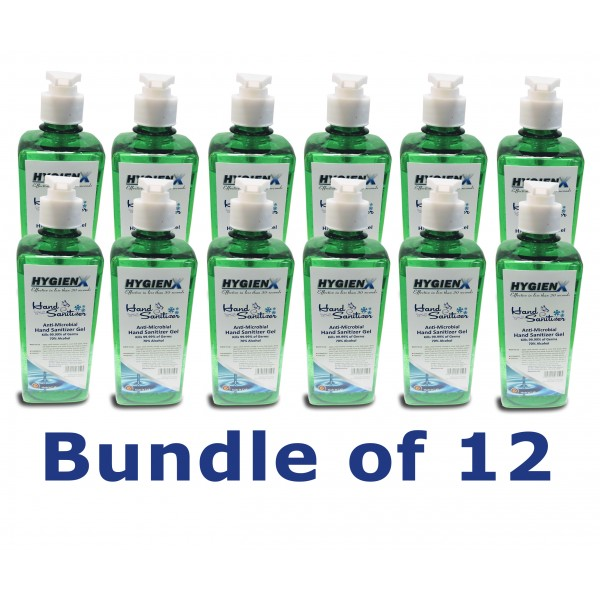 HygienX Anti-Microbial Hand Sanitizer 500ml - Gree...