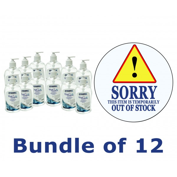 HygienX Anti-Microbial Hand Sanitizer 500ml - Bundle of 12pcs.