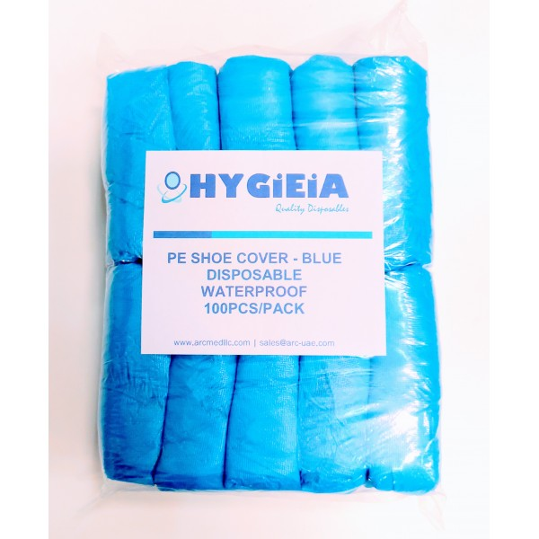 Hygieia Disposable PE Shoe Cover 100's