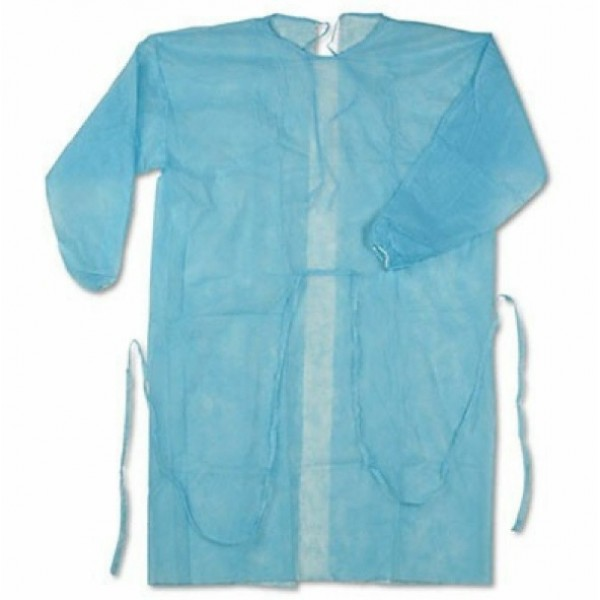 HYGIEIA NonWoven Isolation Gown, Elastic Cuff - Blue 10's/Pkt