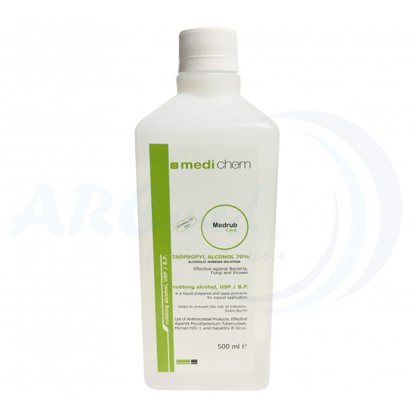 Isopropyl Alcohol 70% Solution 500ml - Medichem