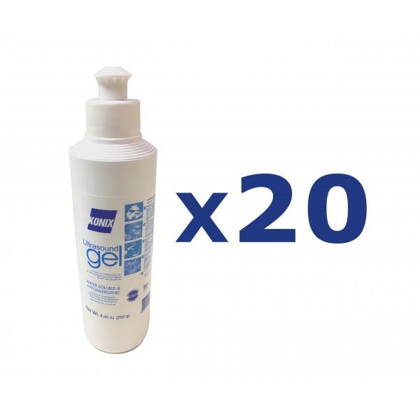 KONIX Ultrasound Gel Blue 250ml 20pcs/ Box