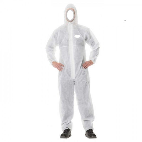 Disposable Coverall with Hood & Elastic wrist PP-Non Woven 50gsm