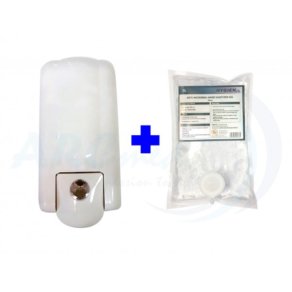 1pc HygienX Hand Sanitizer Gel Pouch 1L + Dispense...