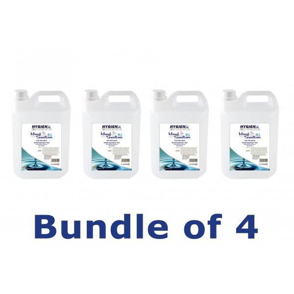 HygienX Hand Sanitizer Gel 5L Bundle of 4
