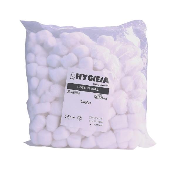HYGIEIA Cotton Balls 200's Bag
